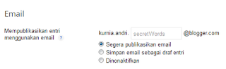 Cara Update (Posting) ke Blog lewat Email