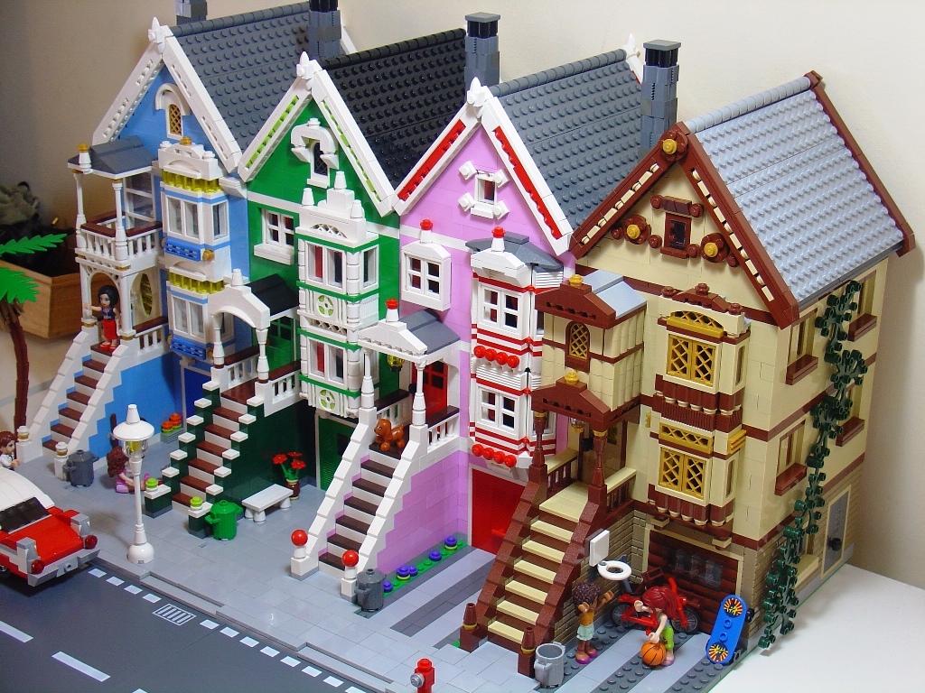 Moc Painted Ladies District on Bob The Builder Ideas On Pinterest