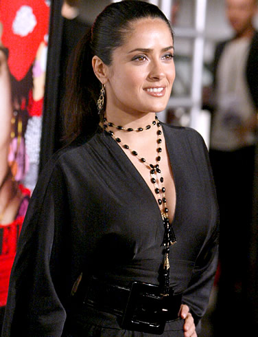 salma_hayek_image_in_black_Fun_Hungama