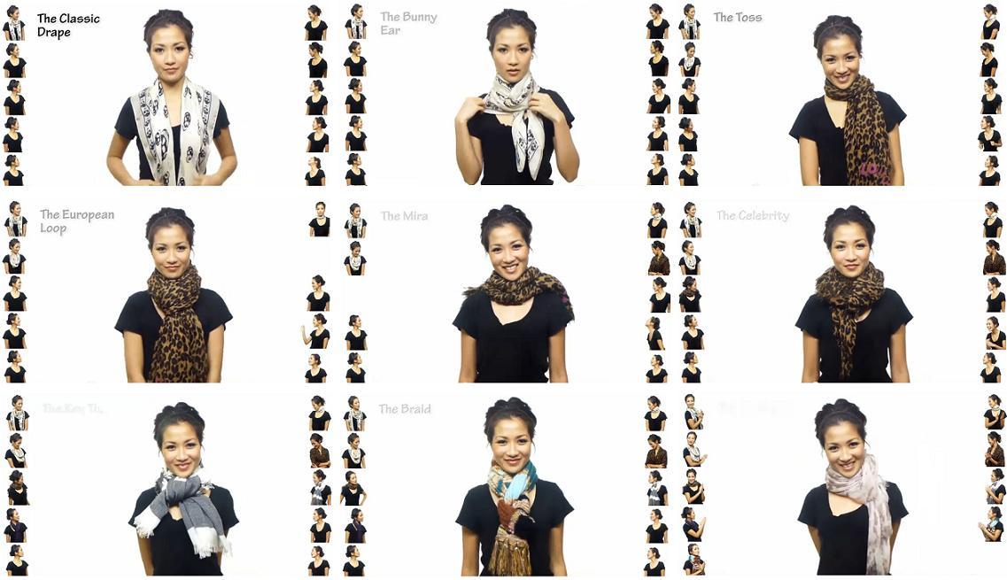 En él nos enseñan paso a paso 25 formas de llevar un foulard. Menos de 5 minutos de vídeo del que seguro sacaréis muchas ideas.