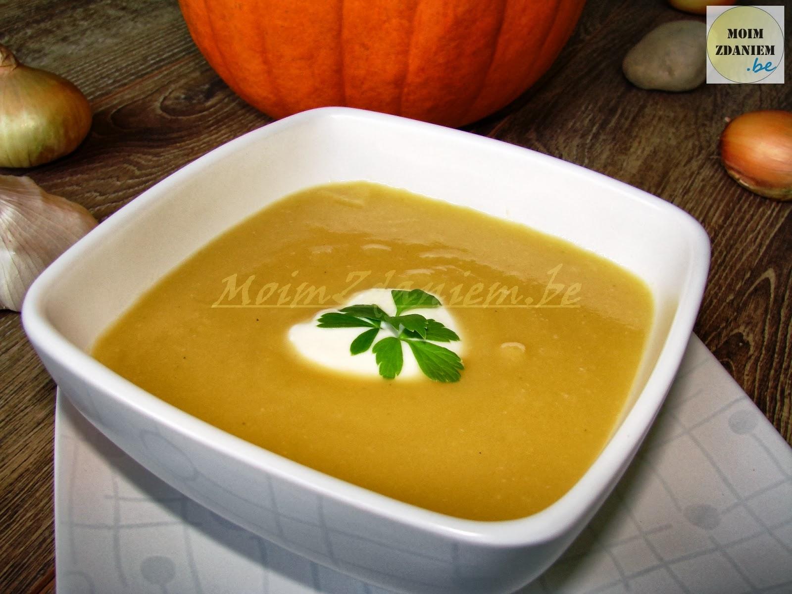 zupa krem z dyni z jogurtem greckim
