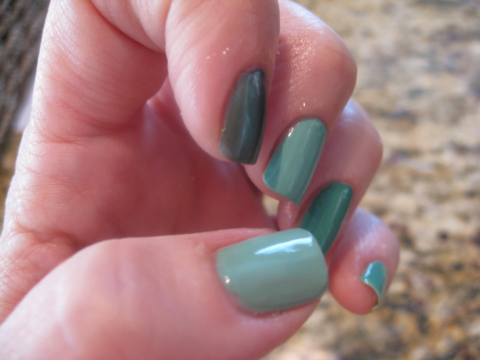 The Polish Lab: Five Finger Friday Mint Greens