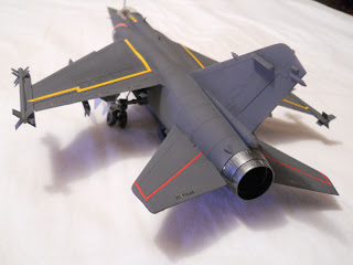 model of a mirage F1C in scale 1:48 of Italeri