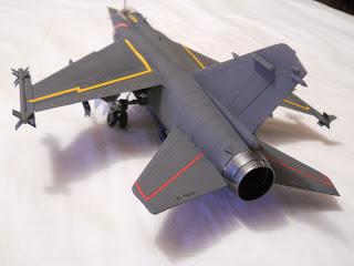 model of a mirage F1C in scale 1:48 of Italeri
