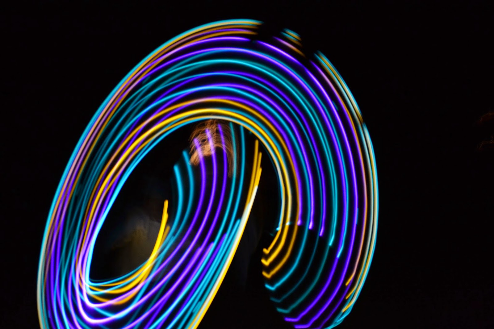 LED Hula Hoop Night Swirls