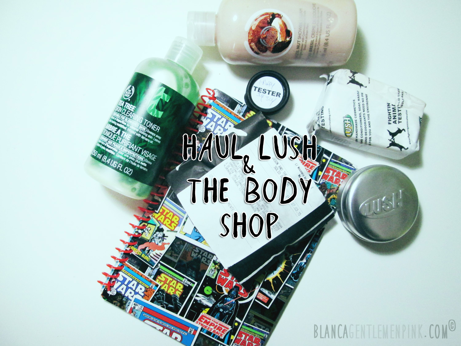 Compras de Lush y the body shop