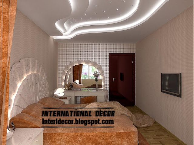 pop false ceiling designs for bedroom interior, gypsum false ceiling