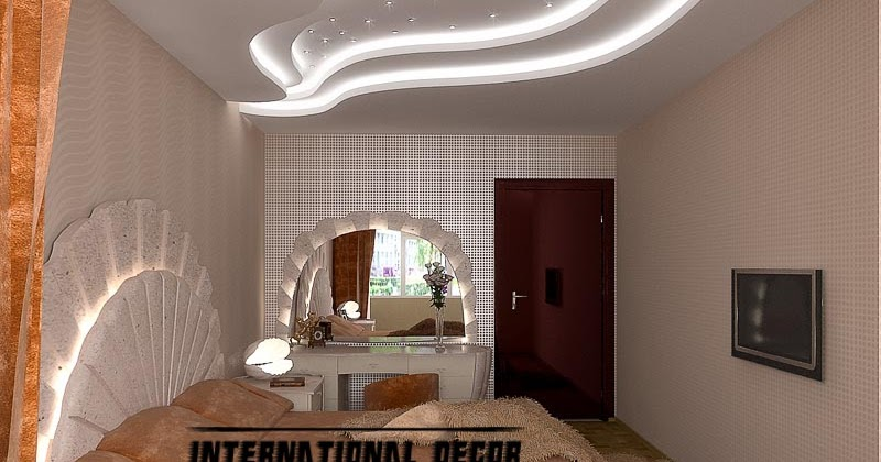 Modern day pop false ceiling designs for bedroom interior for Modern day bedroom designs