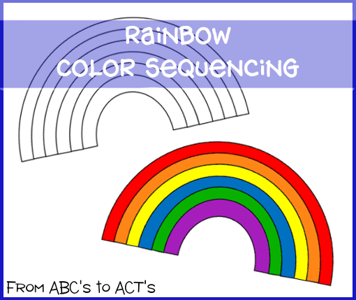 http://fromabcstoacts.com/2014/03/rainbow-color-sequencing.html