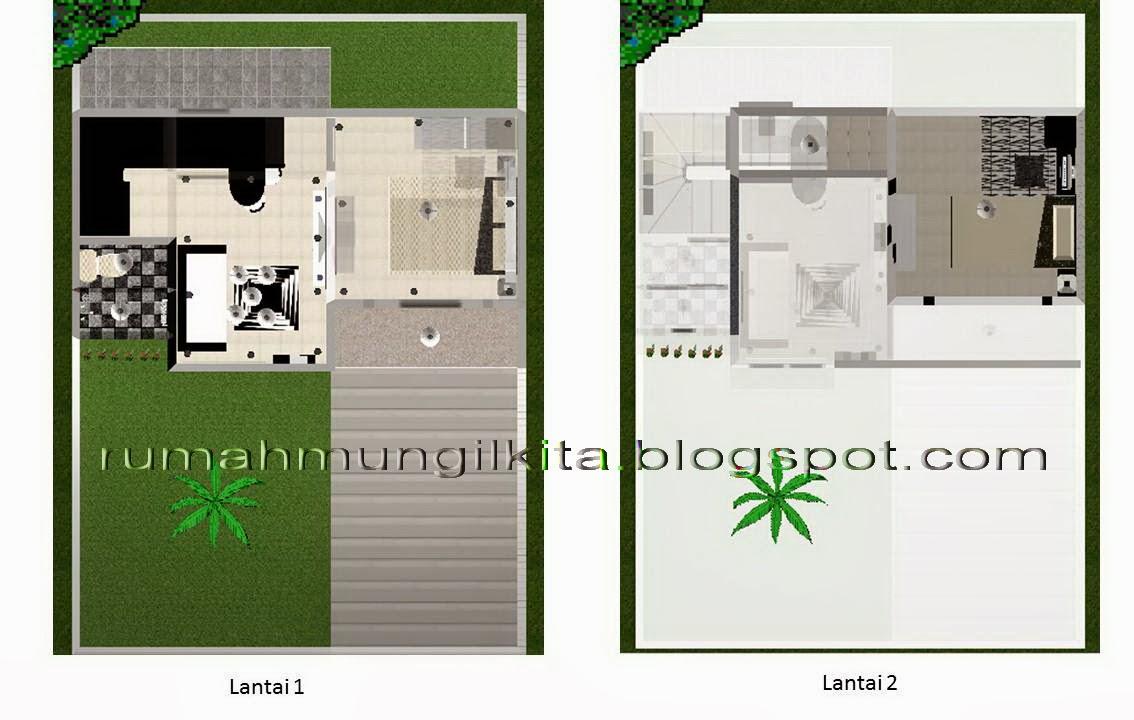 penataan rumah tipe 38 tanah 70 m2 2lantai 2kamar tidur