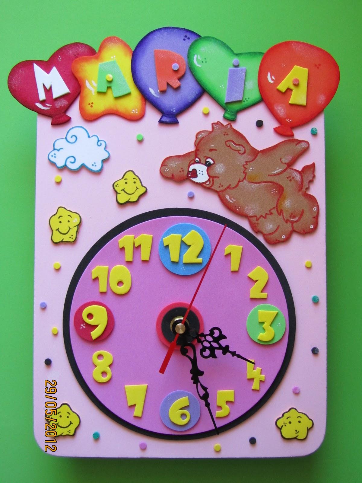 Como hacer un reloj de fomix mis cositas en goma eva - Manualidades relojes infantiles ...