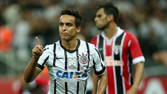 Jadson marcou no primeiro confronto entre Corinthians e São Paulo nesta temporada.