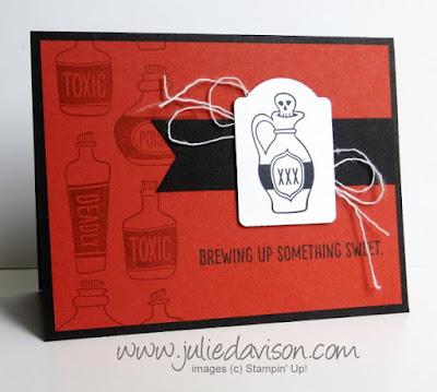 Stampin' Up! Sweet Haunting Halloween card #halloween #stampinup www.juliedavison.com