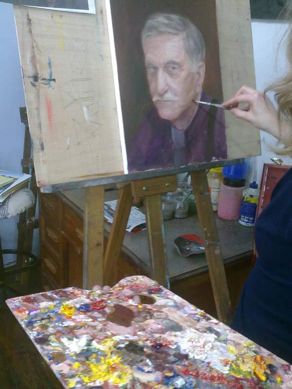 detalle retrato al oleo