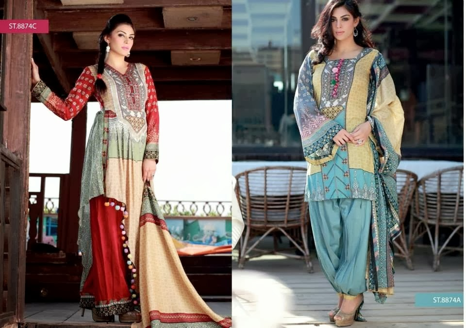 Libas Crinkle Lawn Collection 2014 by Shariq Textile