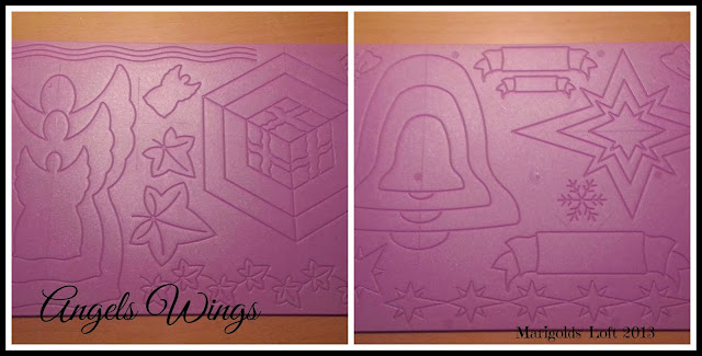 Angels wings dry embossing boards