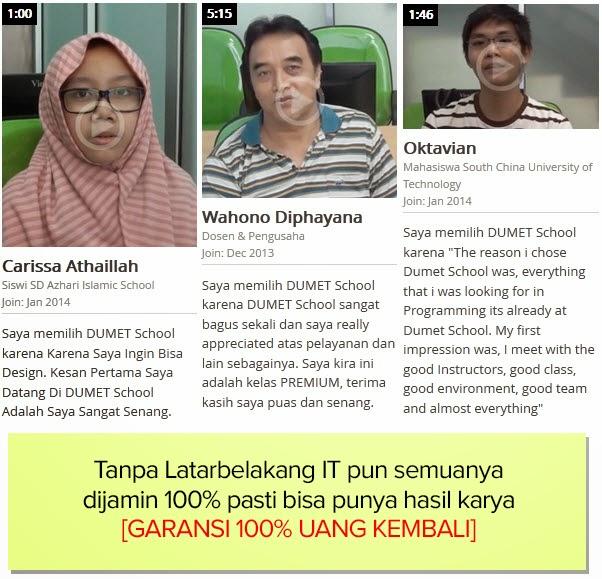 Testimonial Murid Dumet School