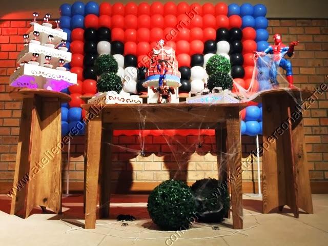 decoração de festa infantil homem aranha provençal rustico