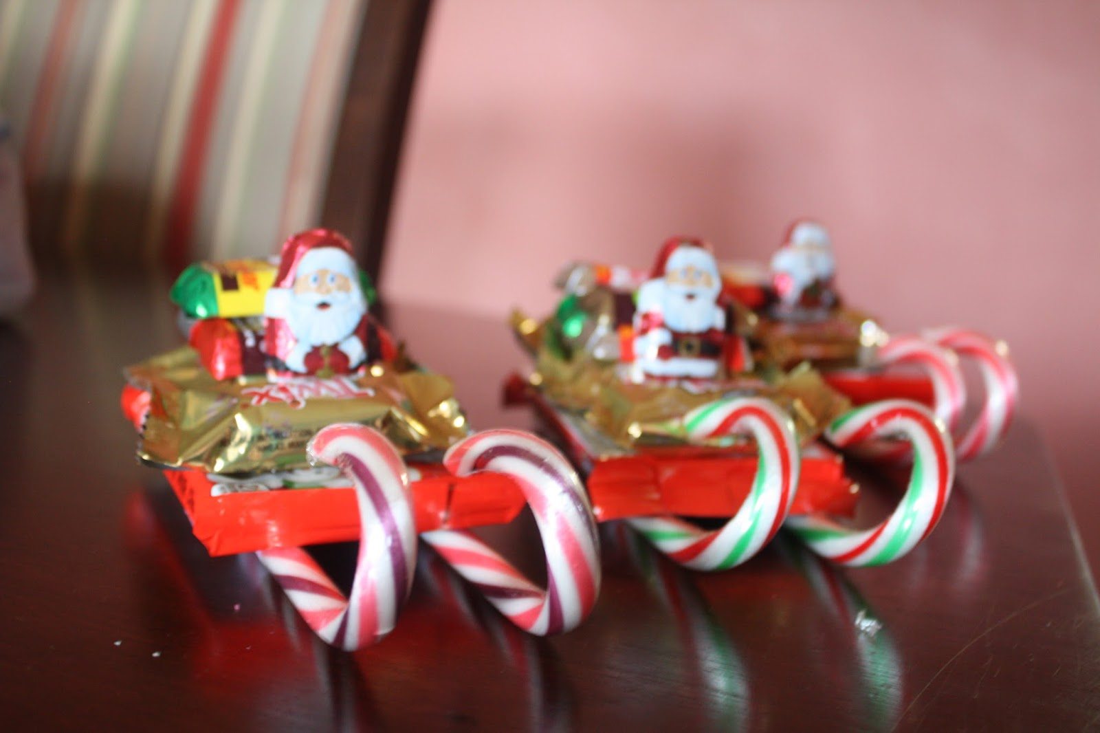 christmas candy sleighs and snowman soup - Candy Sleighs For Christmas