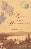 Book cover of Letters from Yellowstone by Diane Smith (historical fiction book set in Yellowstone National Park)
