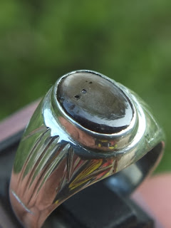 natural black sapphire