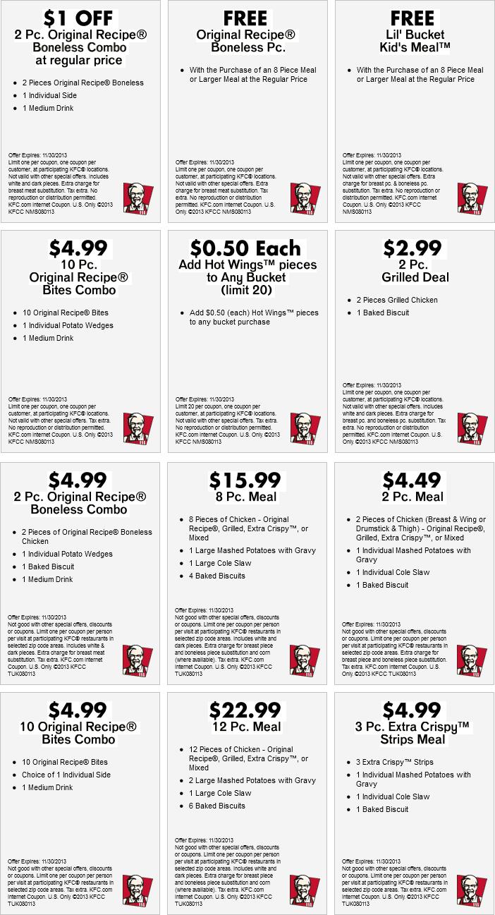 Kfc discount coupon