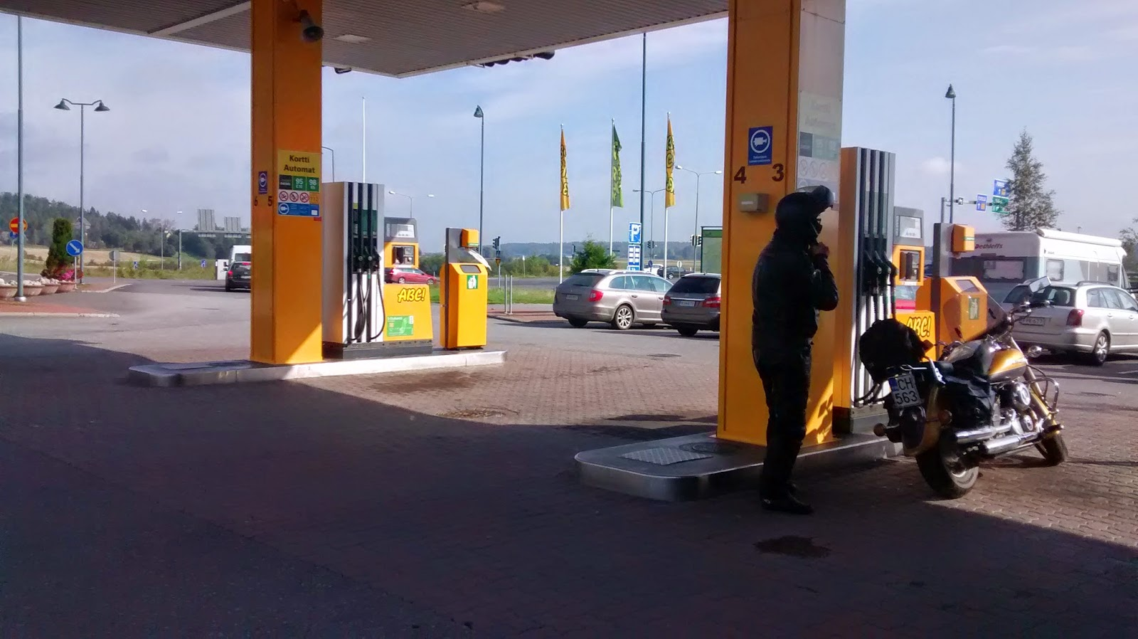 posto de gasolina na Finlândia