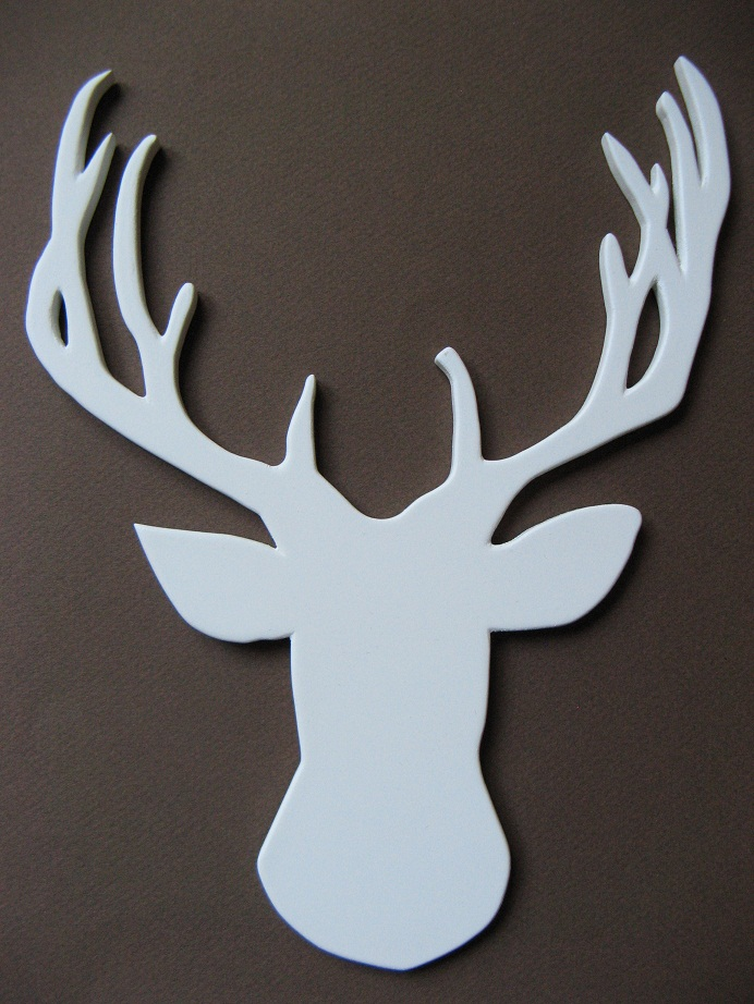 Cardboard deer head template