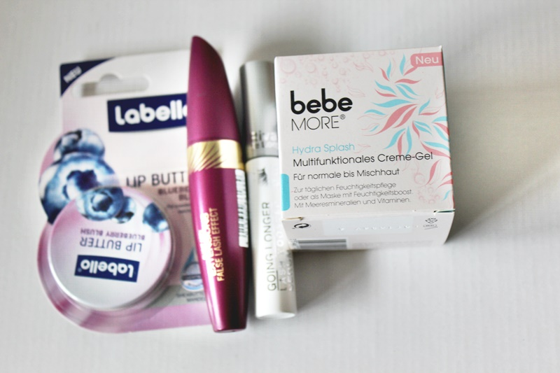 labello lip butter, max factor mascara, rdl lash booster,bebe more creme