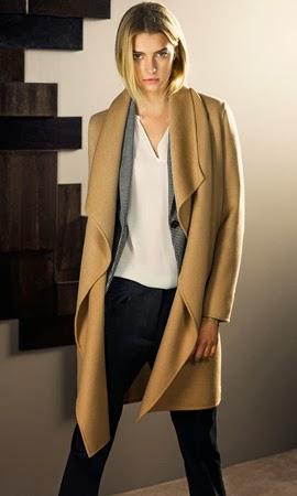 abrigo capa Massimo Dutti mujer otoño invierno 2013 2014