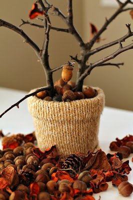 tree branch centerpiece - Turtles and Tails