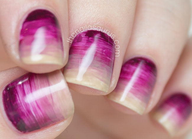 Purple Watercolour Gradient Nails // The Nailasaurus