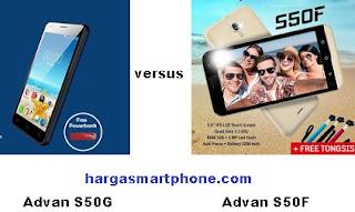 Harga dan Perbedaan Advan S50G dengan S50F