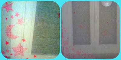 estrellas pintadas a mano con rotulador téxtil