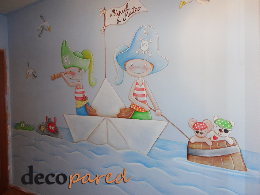 Decopared mural infantil de piratas - Poster para decorar paredes ...