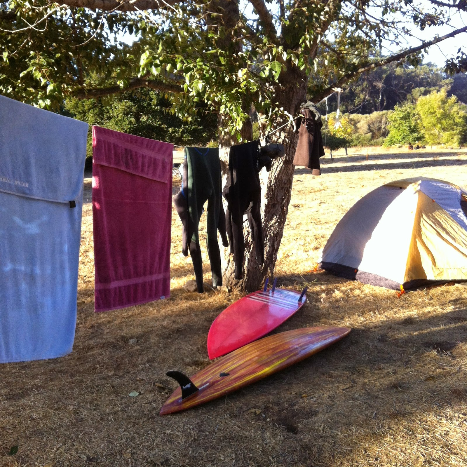 surf camping in California