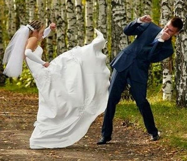 أطرف صور العروسين في حفلات الزفاف  Funny-wedding-photos-04