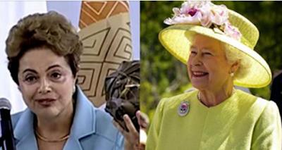 Dilma custa ao Brasil o dobro de Elizabeth II ao Reino Unido