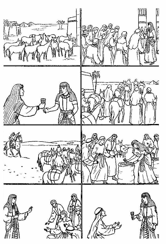 Historia de jose para colorear - Imagui