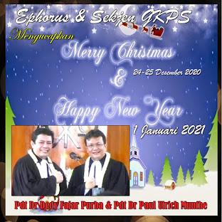 Pdt Dr Deddy Fajar Purba dan Pdt Dr Paul Ulrich Munthe (Ephorus dan Sekjen GKPS)