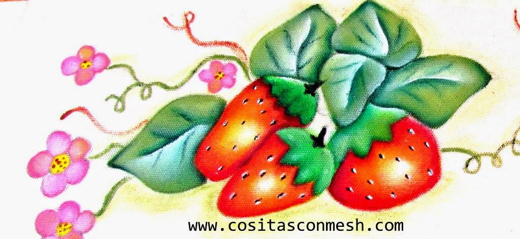 Cmo pintar fresas en tela para la cocina cositasconmesh