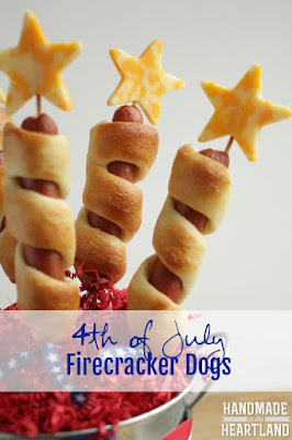 Fourth of July Firecracker Hot Dogs