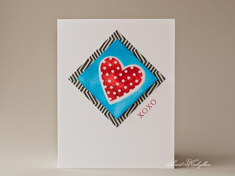 Valentine's Day Card. Валентинка Sweet Kobylkin