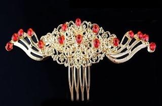 Sirkam rambut emas untuk pesta pernikahan