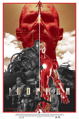 Iron Man GOld Foil Variant Screen Print by Grzegorz Domaradzki