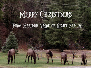 This blogger's Christmas list. Here are five Idaho elk wishing you a Merry Christmas on a rainy December day.