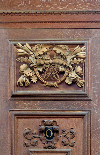 One of the many bookcase carvings Gibbons made for the Wren Library, Cambridge.