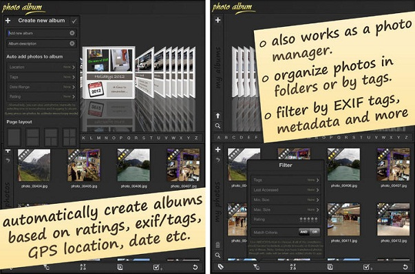 Photo Album App for iPhone, iPad and Android