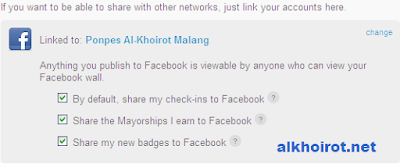 foursquare to facebook
