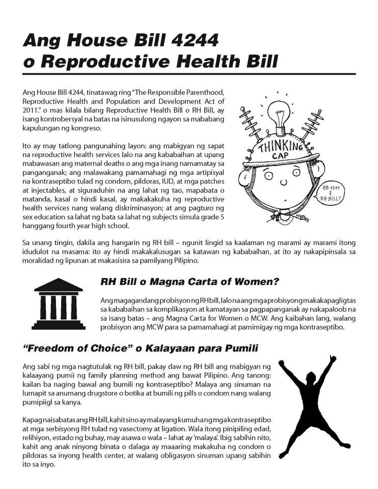 essay rh bill Reproductive health bill, more popularly known as rh bill, is quite a controversy on our government so what is exactly rh bill well, it just states that we could use birth control methods in our country legally.